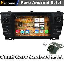 For Toyota Corolla 2013 2014 Car PC DVD Android 5.1 GPS Navigation 3G WIFI Radio Stereo 1.6G CPU Central Multimedia Camera(China)