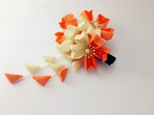 Japanese traditional Style kimono Orange flower yukata bride hair decoration ornament headwear hair accessories summer style(China)