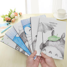 4 pcs/lot Cartoon Totoro A5 Stitching Notebook Notepad Kawaii Design Diary School&Office Supply Stationery Promotion Gifts