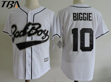 2017 New Cheap Mens #10 BAD BOY Biggie White Movie Baseball Jerseys,All Stitched Throwback Baseball Jersey Free Shipping(China)