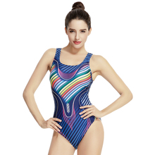 Professional Women High Leg Cut Racerback Printed Swimwear Training Racing Competition Swimsuit Sport One Piece Swimming Suits