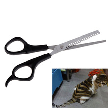 High Quality Pet Grooming Cut Teeth Scissors Teddy Dog Stainless Steel Hair Thinning Scissors 6Inch  Barber Shop products BS
