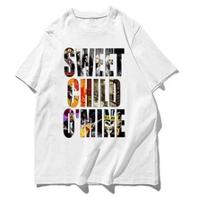 guns and roses sweet child o' mine washed cotton men women size tee t shirts(China)
