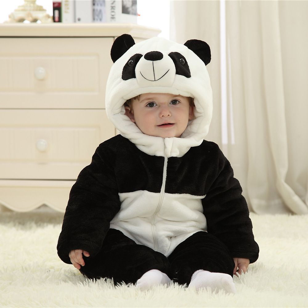 Coveralls For Newborns Cartoon Hooded With Zippers Winter Rompers<br><br>Aliexpress