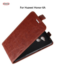 YINGHUI For Huawei Honor 6A Case Luxury PU Leather Back Cover Case For Huawei Honor Play 6A Case Flip Protective Phone Bags Skin(China)