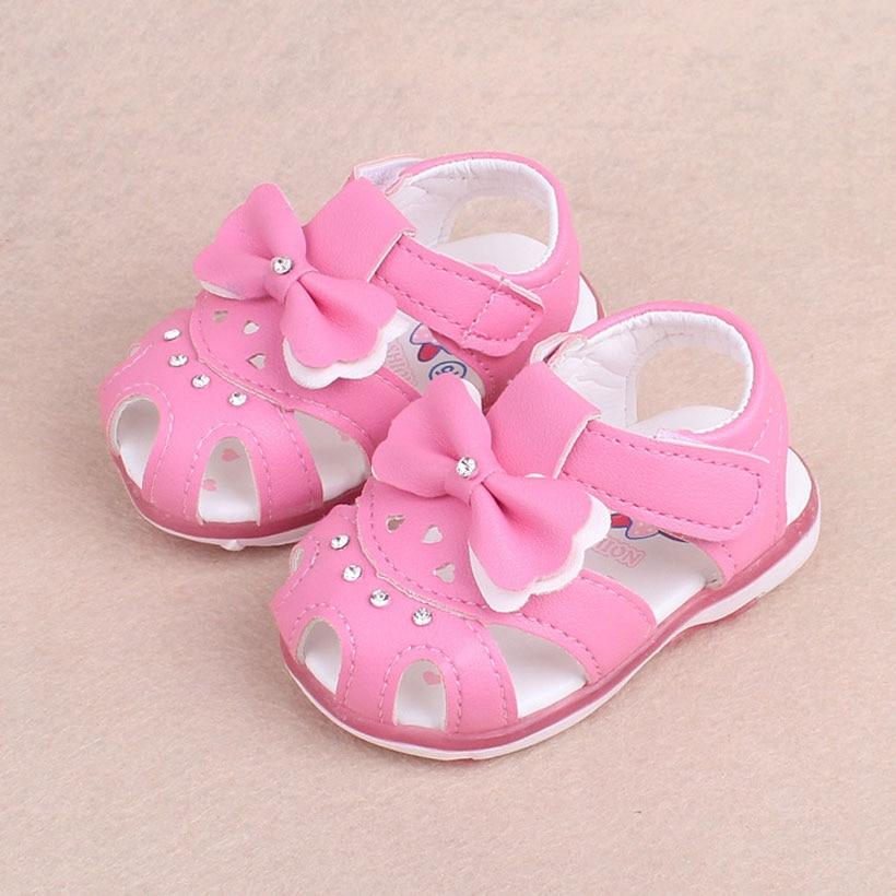 Summer Toddler Children Kids Girls Elegant Flower Hallow Sandals Princess Shoes