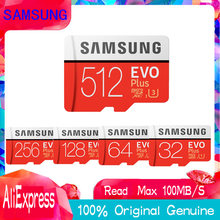 Оригинальный SAMSUNG EVO + карты памяти 64 GB EVO plus U3 128 GB 256 GB 512 gb Class10 Micro SD карта 32 GB microSD UHS-I TF карты(China)