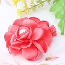 Bohemia Style New Children Hair Accessories Fabric Peony Flower Hairpins Baby Headwear Hair Clip Hairpin Brooch Accessories