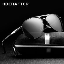 HDCRAFTER High Quality Brand Designer Sunglasses Cool Polarized Men's Eyewear UV Protection Oculos de sol masculino(China)
