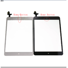 For iPad Mini 1 1st Gen Generation Black / White Outter Touch Screen Panel Digitizer Sensor Glass With Home Button
