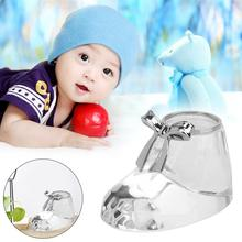 Crystal Baby Shoes Figurines Crafts Creative Birthday Wedding Souvenir Gift Cute(China)