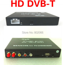 2014 New Car DVB-T DVBT MPEG-4 HD tuner Digital TV receiver box Dual Antenna for European