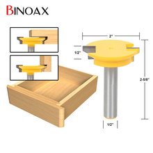 Binoax 1/2'' Shank Drawer Front Joint Router Bit Reversible Woodworking Chisel Cutter Tools