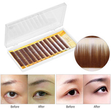 Professional Mixed Brown Black False Eyebrow Extension Fake Eyebrow Enhancer Individual Eyebrows 5-8mm For Eyelashes Extension(China)