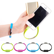 MOONBIFFY Micro USB Cable Bracelet Data Charging Line Wristband For Android Cellphone