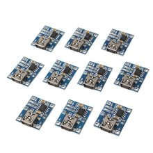 New Arrival 10pcs Lithium Battery Charger Module Board mini 5v USB 1A li-ion Battery charger TP4056 Integrated Circuits(China)