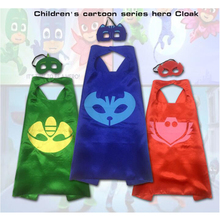 Funny Joy 2017 PJ New Masks Role-play cloak Cape and Mask Owlette Catboy Gecko Cosplay Action Toys For Children