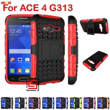 LELOZI Armor Rugged Hybrid Hard PC TPU Soft Rubber ShockProof Case Cover Bag For Samsung Sumsung Samsuns Galaxy ACE 4 LTE G313(China)