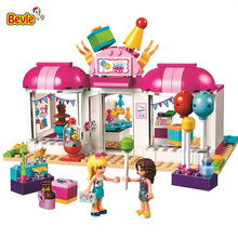 Bevle 10557 Bela Friends Series Heartlake Party Balloon Shop Model Building Block Bricks Compatible With LEPIN Friends 41132