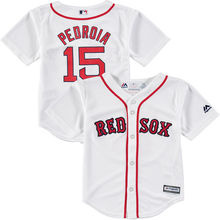 MLB Toddler Boston Red Sox Dustin Pedroia Baseball White Official Cool Base Player Jersey(China)