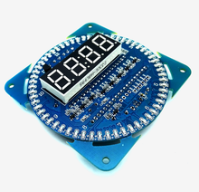DS1302 Rotating LED Display Alarm Electronic Clock Module LED Temperature Display(China)