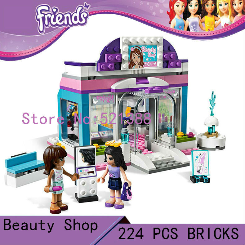 DIY  Toys for children girl CHINA BRAND Blocks self-locking bricks Compatible with Lego friends Butterfly Beauty Shop 3187<br>