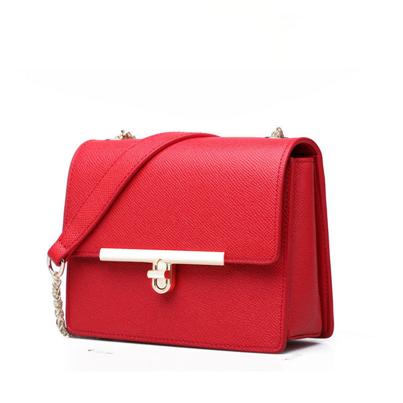 Small package womens single shoulder bag 100% Genuine leather The gift to wife A variety of color can choose<br>