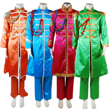 The Beatles Sgt. Pepper's Lonely Hearts Club Band George Harrison Cosplay Costume For Adult Men Red Orange Blue Green Version