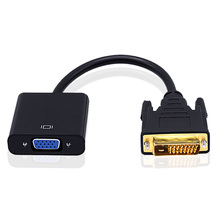 Hot New DVI 24+1 To VGA Adapter Cable 24K Gold Plated Jack HD 1080P DVI To VGA Converter Cables For Monitor HDTV Projector PC(China)