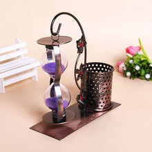Creative Iron Pen hourglass fashion home furnishing accessories office Metal Crafts vintage nautical home decor decoration