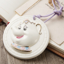 2016 New Arrival Beauty and Beast Teapot Mrs. Potts Aromatherapy Diffuser Incense Porcelain Pendant Decor Room Car