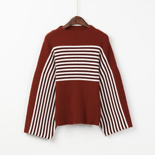 UHLRICHBWER 2017 Autumn And Winter Women's New Sweater Striped Sweater Women Round Neck Sweater Outcoat