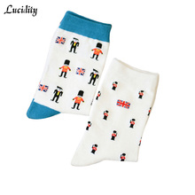 New 2017 Spring Womens Socks Cartoon Cotton Individuality Autumn Woman Socks Brand Cheap Casual Socks For Female 2pairs/lot