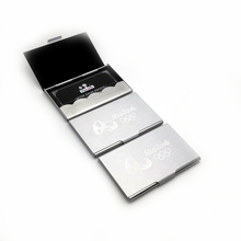 Super cheap personalized Business card holders custom with company website contact info and email for business promotions(China)