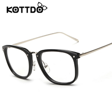 New Fashion Eyeglasses Retro Vintage Metal plain frame optical glasses men women myopia eyeglasses black frame oculos de grau