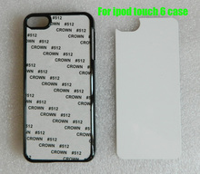 sublimation hard plastic case For iPod touch 6  + blank metal aluminium sheet insert free shipping 100pcs/lot