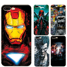 "Phone Cases For Iphone 7 plus 7+ Soft TPU Super Charming Marvel Avengers Heroes Case Cover For Apple iphone 7 Plus 5.5"" Funda"