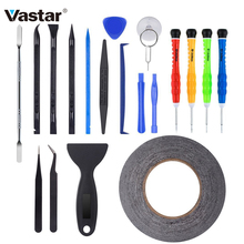 Vastar 21-Piece DIY Phone Opening Pry Tool Repair Kit Screwdriver Set With Tape for iPhone6/6s/7 Ipad Screen Replacement(China)