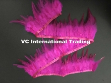 Wholesale for Sale 20 Yards hot pink Strip Skirt Trim Feather Wedding Dresses Centerpieces Decorations for Home Decor(China)