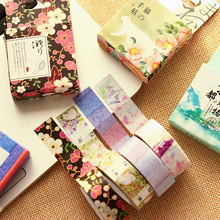 15mm X 10m Cute Lot Kawaii Flower Food Animals Decorative Washi Tape Diy Scrapbooking Masking Tape School Office Supply(China)