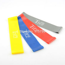 4Pcs/Lot Latex Fitness Resistance Band Training Leg Muscle Band CrossFit Yoga Exercises Looped 4 Resistance Levels BA26740790(China)