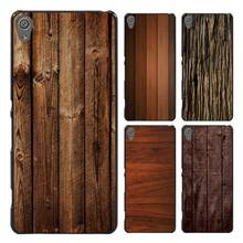 texture wood Style Case Cover for Sony Ericsson Xperia X XZ XA XA1 M4 Aqua E4 E5 C4 C5 Z1 Z2 Z3 Z4 Z5(China)