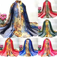 Fashion Lady Scarves Print Long Wrap Women's Shawl Chiffon Scarf High Quality Beautiful Attractive Neckerchief Silk Scarves(China)