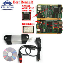 Best Diagnostic Tool For Renault Can Clip Diagnostic Interface Full Chip V160 Multi-Languages CYPRESS AN2135SC & AN2136SC Chips