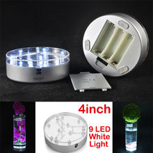 Bathroom Accessories Korean School Supplies  4 inch LED Light Base, super bright White color led vase light base