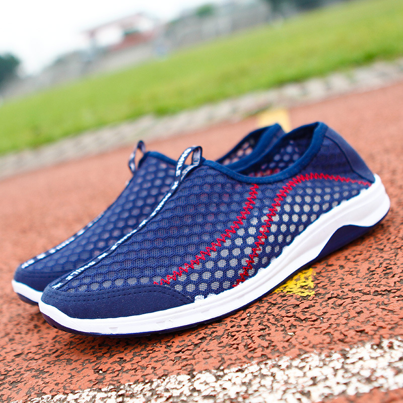 Breathable Mesh Shoes 2016 Summer Men Casual Shoes Slip-on Mesh Flat Shoes Comfortable Sport Mens trainers Chaussure Homme SD003<br><br>Aliexpress