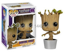 2015 Marvel Guardians of the Galaxy Groot FUNKO POP Wacky Wobbler Shake Bobble Head Tree Toy PVC Action Figure Free shipping