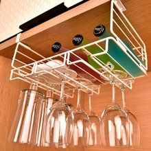Creative kitchen rack shelf wine cup rack iron cup rack with multiple wine frame wall