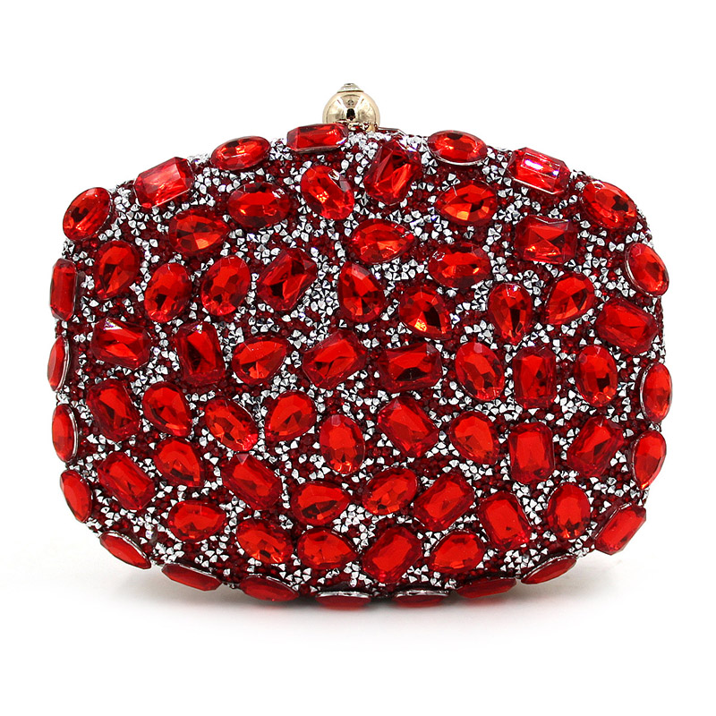 Lady Crystal Heart Designer Clutch Chain Evening Bag Rhinestone Bridal Wedding Party Purse Colour Pochette Bolsas Mujer XA1774C<br><br>Aliexpress