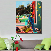 HDARTISAN Photographs about Landscape out of Windows Animal Oil Painting Canvas for living Room wall Poster Gallery